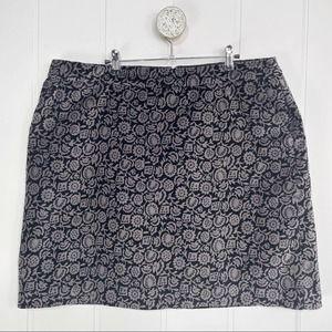 Boden Floral Mimi Velvet Skirt 16 Long